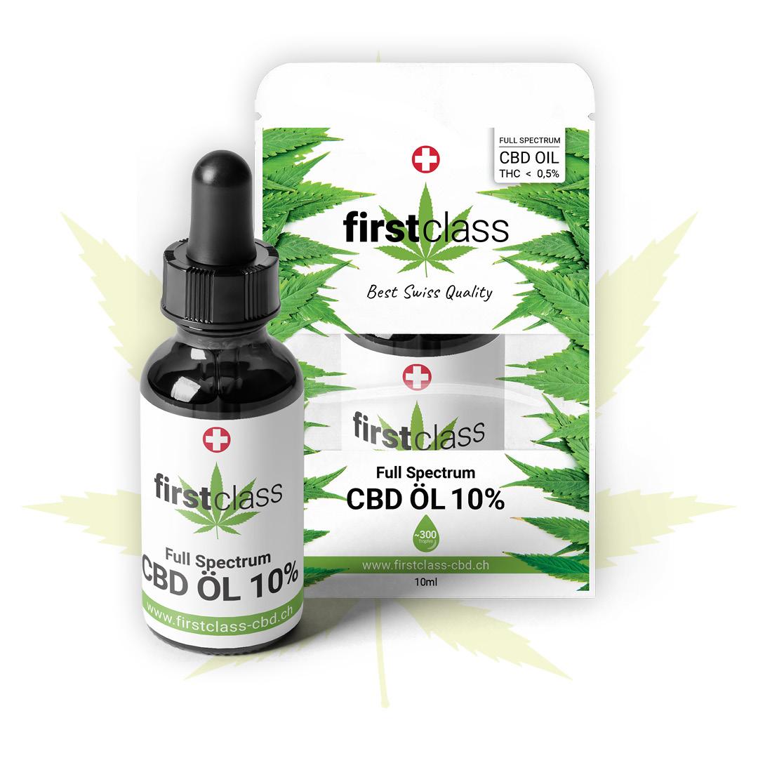 Firstclass CBD Öl 10ml – höchste schweizer Qualität mit 10% CBD THC 0.5% -  Arya Shop